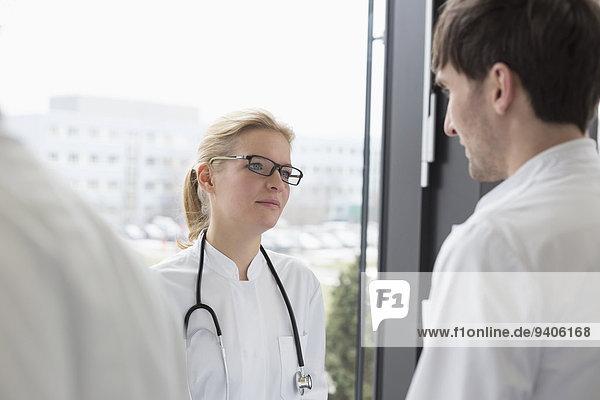 Doctors having conversation