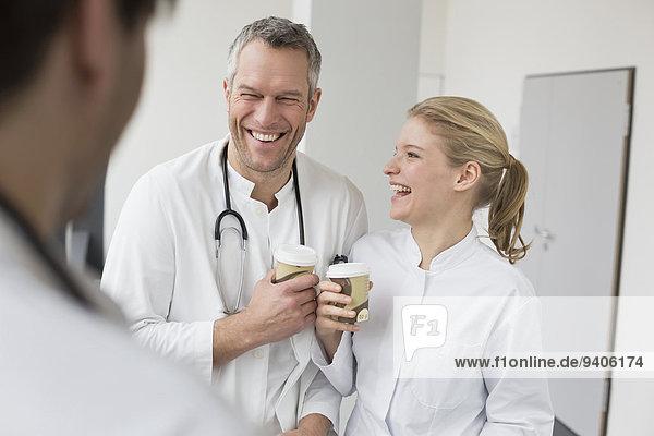 nehmen Arzt Pause Kaffee