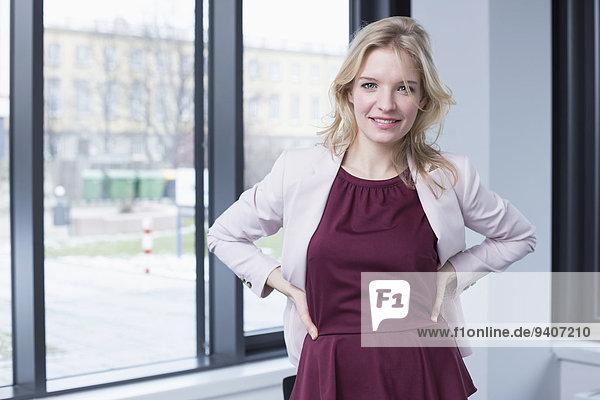 lächeln Porträt einer Geschäftsfrau