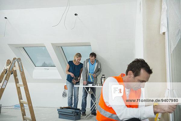 bauen arbeiten Gebäude neu