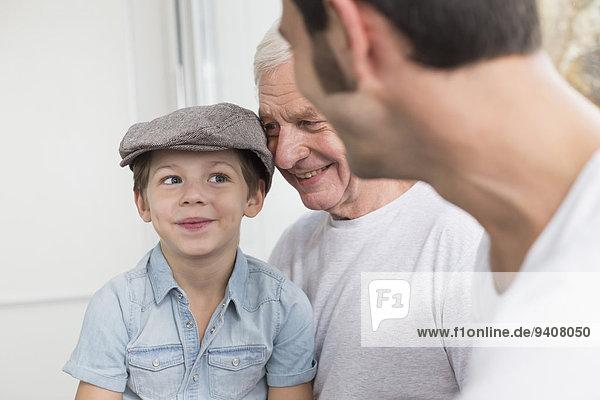 Menschlicher Vater Sohn Mütze