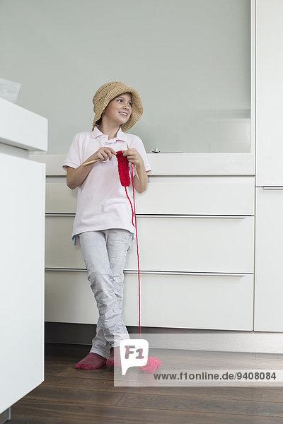 lächeln Hut Kleidung Mädchen stricken