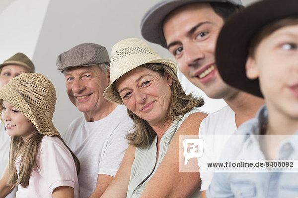 Portrait lächeln Hut Kleidung