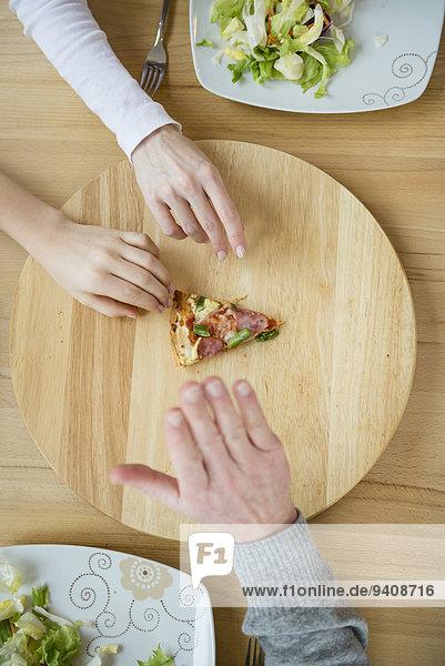 Kampf Scheibe Pizza