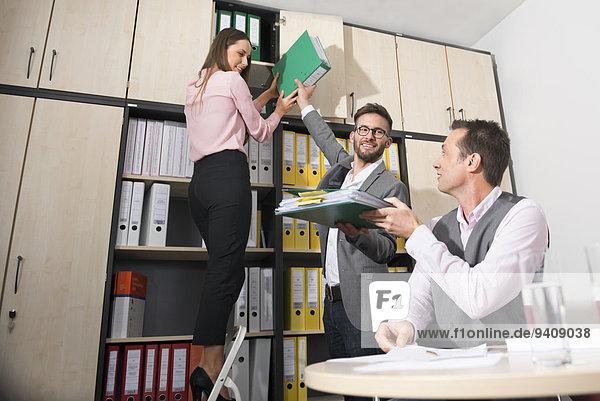 Büro arbeiten jung Kollege 3 Business