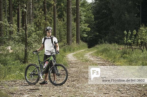 Berg Mann radfahren