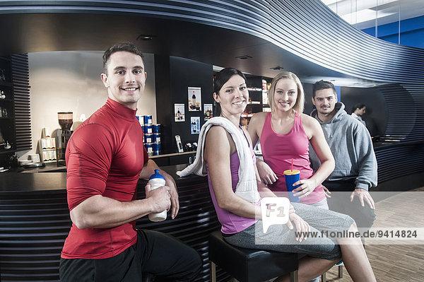 Fitness-Studio Freundschaft Besuch Treffen trifft
