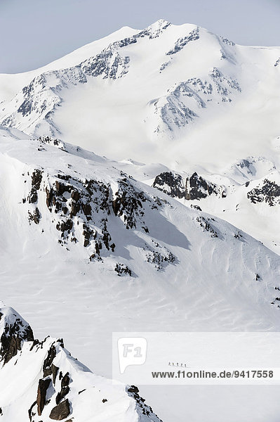 überqueren Berg Winter Tagesausflug Ski Kreuz Schnee