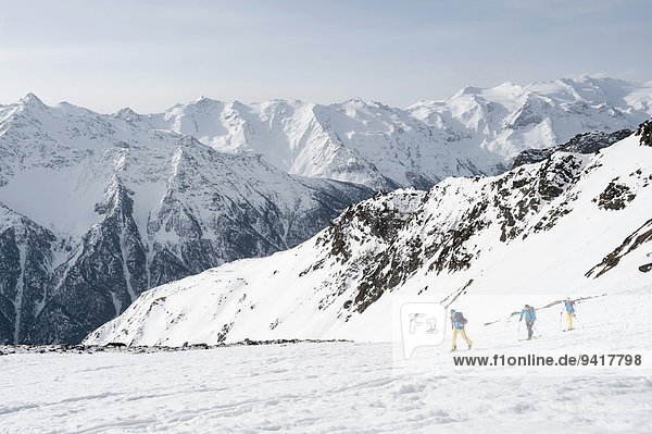 Berg Winter Alpen Ski querfeldein Cross Country