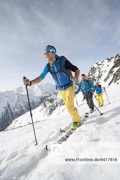 Winter Mann Alpen Skisport 3 querfeldein Cross Country