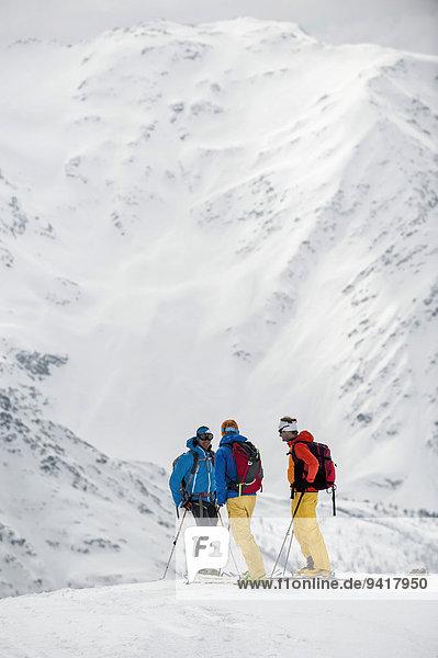stehend Berg Winter Ski 3 Schnee