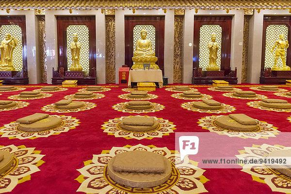 Meditationshalle  Chan Wu Hotel in Dengfeng  Zhengzhou  Provinz Henan  China