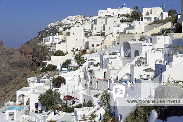 Ortsansicht Imerovigli  Santorin  Kykladen  Griechenland