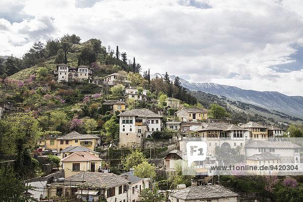Ortsansicht  Gjirokastra  Albanien