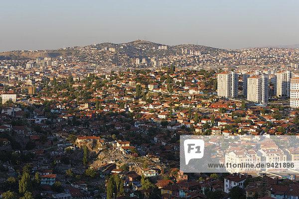 Gecekondu-Siedlung  Blick von der Burg  Ankara  Zentralanatolien  Anatolien  Türkei