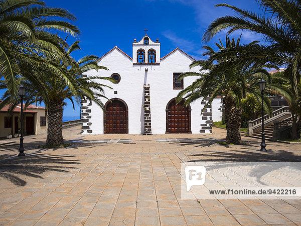 Kirche von Garafía  Plaza Baltazar Martín  Santo Domingo de Garafía  La Palma  Kanarische Inseln  Spanien
