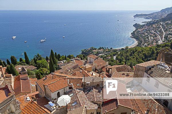Dächer der Altstadt  Roquebrune  Cote d'Azur  Frankreich