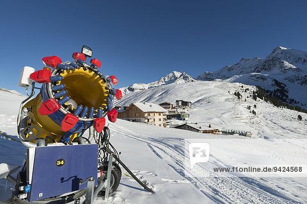 Schneekanone  Skigebiet Kühtai  Tirol  Österreich