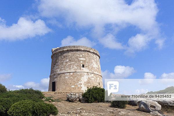 Old watchtower  Son Ganxo  Menorca  Balearic Islands  Spain