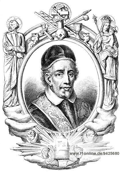 'Pope Innocent XII  or Innocentius XII; Antonio Pignatelli  1615-1700  Pope from 1691 to 1700  historical illustration'