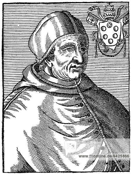 Pope Leo X  1475-1521  born Giovanni di Lorenzo de' Medici  Pope from 1513 to 1521  historical illustration