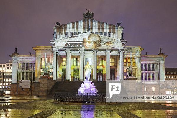 Konzerthaus am Gendarmenmarkt während des Festival of Lights 2014  Berlin  Deutschland
