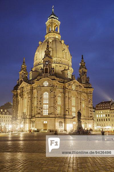 Frauenkirche  Dresden  Sachsen  Deutschland