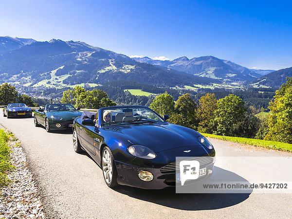 Aston Martin DB7 Vantage Volange auf Bergstraße bei Kitzbühel  Tirol  Österreich