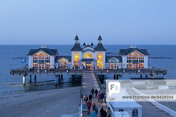 Seebrücke  Sellin  Insel Rügen  Mecklenburg-Vorpommern