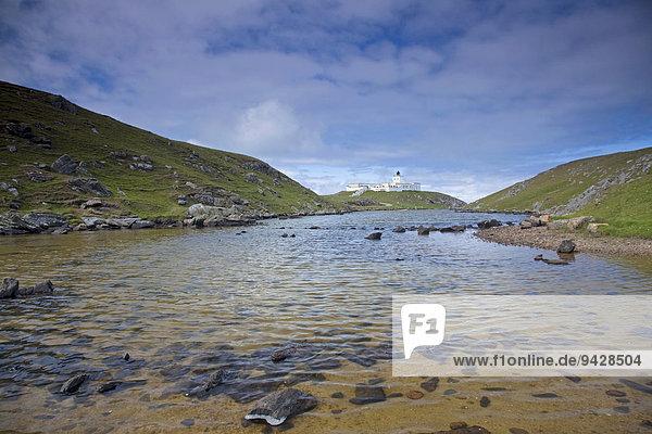 Leuchtturm von Strathy Point an der Schottischen Nordküste  Schottland  Großbritannien  Europa