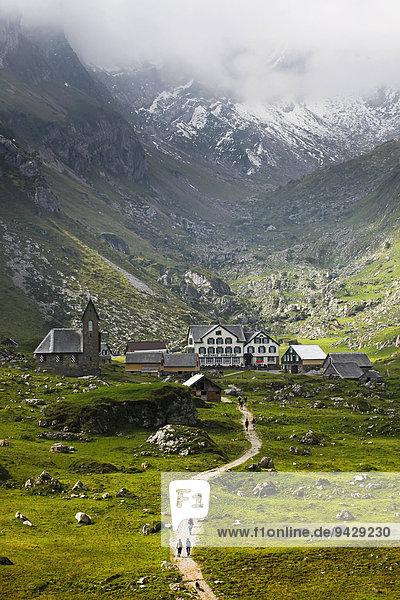 Die Megglisalp im Sommer im Alpstein  Schweiz  Europa  ÖffentlicherGrund