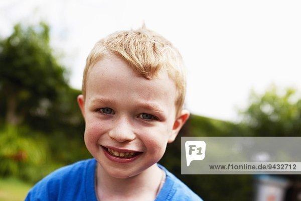 Young boy smiling  portrait
