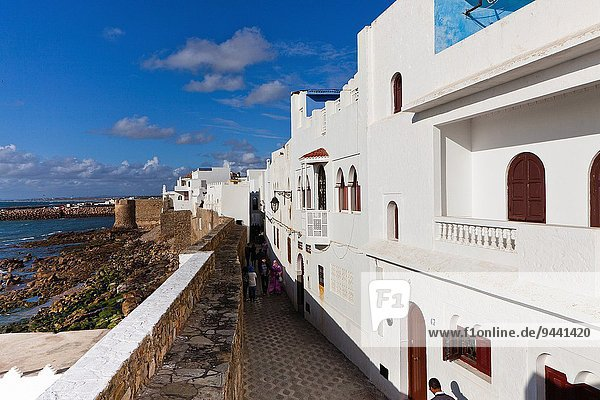 Nordafrika Wand Küste Ansicht Atlantischer Ozean Atlantik Marokko