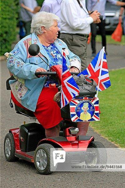 Anschnitt Senior Senioren Sommer fahren Nationalität Kickboard Dorset Roller Sherborne