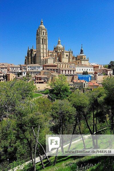 Stadt Kathedrale alt Segovia Spanien