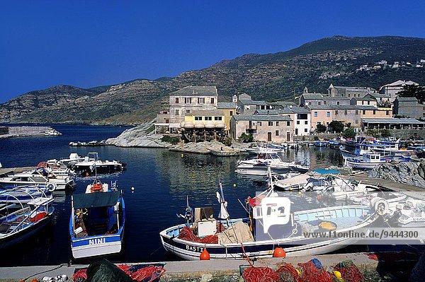 harbour of Centuri  Cap Corse  Upper Corsica  Northern Corsica  France  Europe.