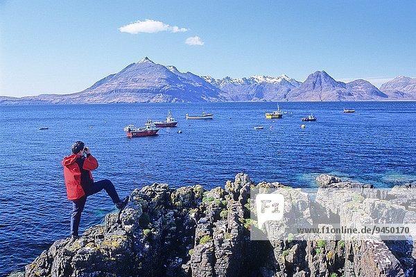 Berg Großbritannien Elgol Isle of Skye Schottland
