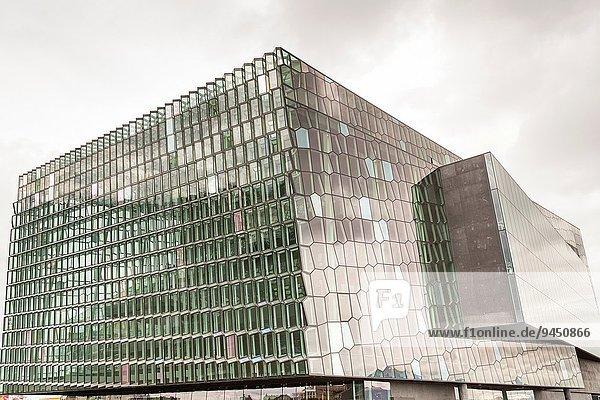 Reykjavik Hauptstadt Geschäftsbesprechung Halle Klassisches Konzert Klassik Konzert Konferenz Harpa Island