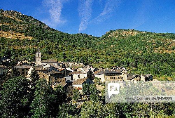 Frankreich Europa Dorf Geographie