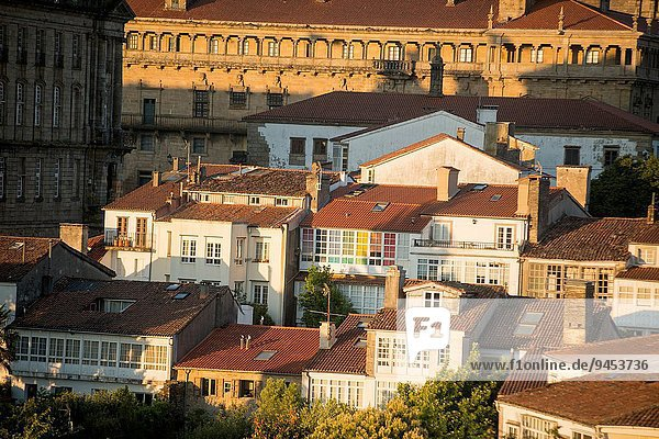 Dach Panorama Europa Galicien Spanien