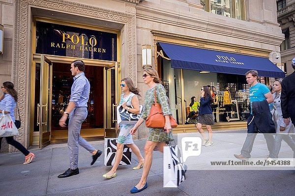 The brand new Polo Ralph Lauren store of Fifth Avenue in New York