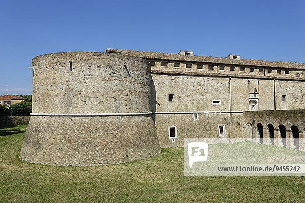 Festung Rocca Costanza  Pesaro  Marken  Italien  Europa