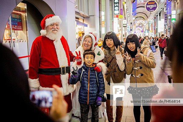 Straße Weihnachten Hiroshima Japan