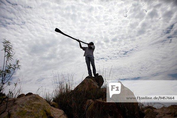 Musik Musiker Gegenstand Spiel Wiederholung Mexiko Entdeckung Maya australisch Didgeridoo Forschung Trompete