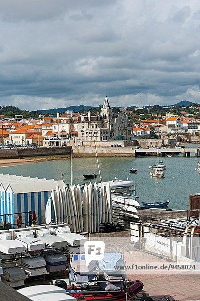 View at coastal resort Cascais  District Lisbon  Portugal  Europe.