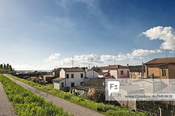 Townscape  Gorino  Delta del Po  Po Delta  Ferrara  Emilia Romagna  Italy  Europe