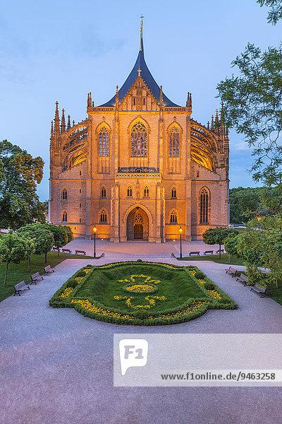 Dom der heiligen Barbara  Kutna Hora  Mittelböhmische Region  Tschechien  Europa