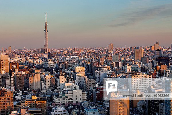 Skyline Skylines Tokyo Hauptstadt Hintergrund Japan