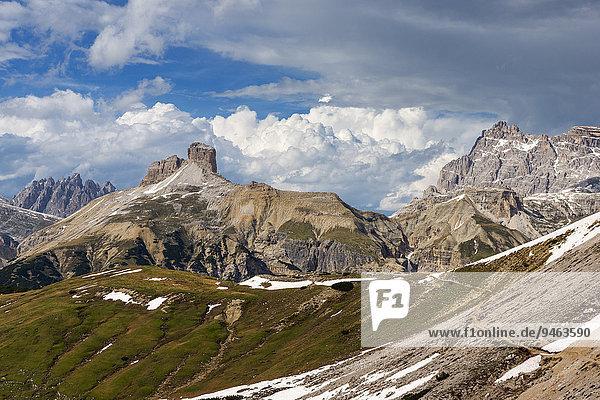 Schwabenalpenkopf  Ausblick vom Zinnenkopf  Sextner Dolomiten  Provinz Südtirol  Italien  Europa