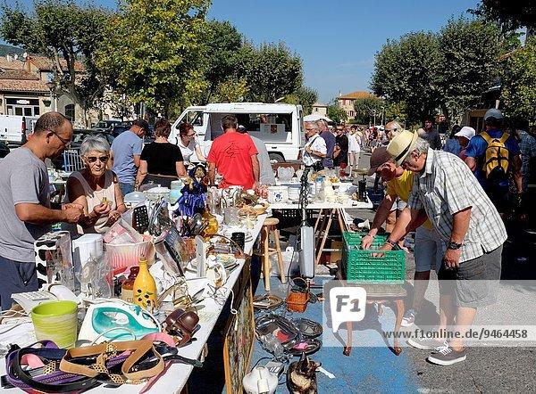 Frankreich Tag Provence - Alpes-Cote d Azur Markt